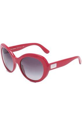 Солнцезащитные очки Dolce & Gabbana красные | Фото №1