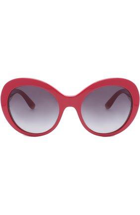 Солнцезащитные очки Dolce & Gabbana красные | Фото №3