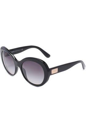 Солнцезащитные очки Dolce & Gabbana черные | Фото №1