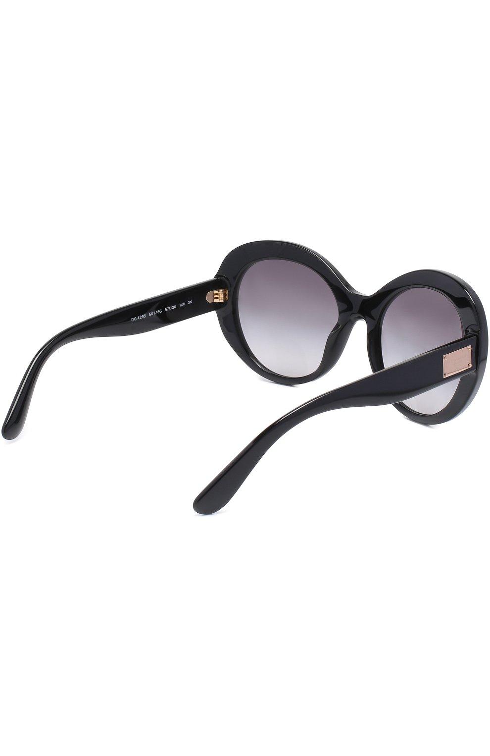 Солнцезащитные очки Dolce & Gabbana черные | Фото №4