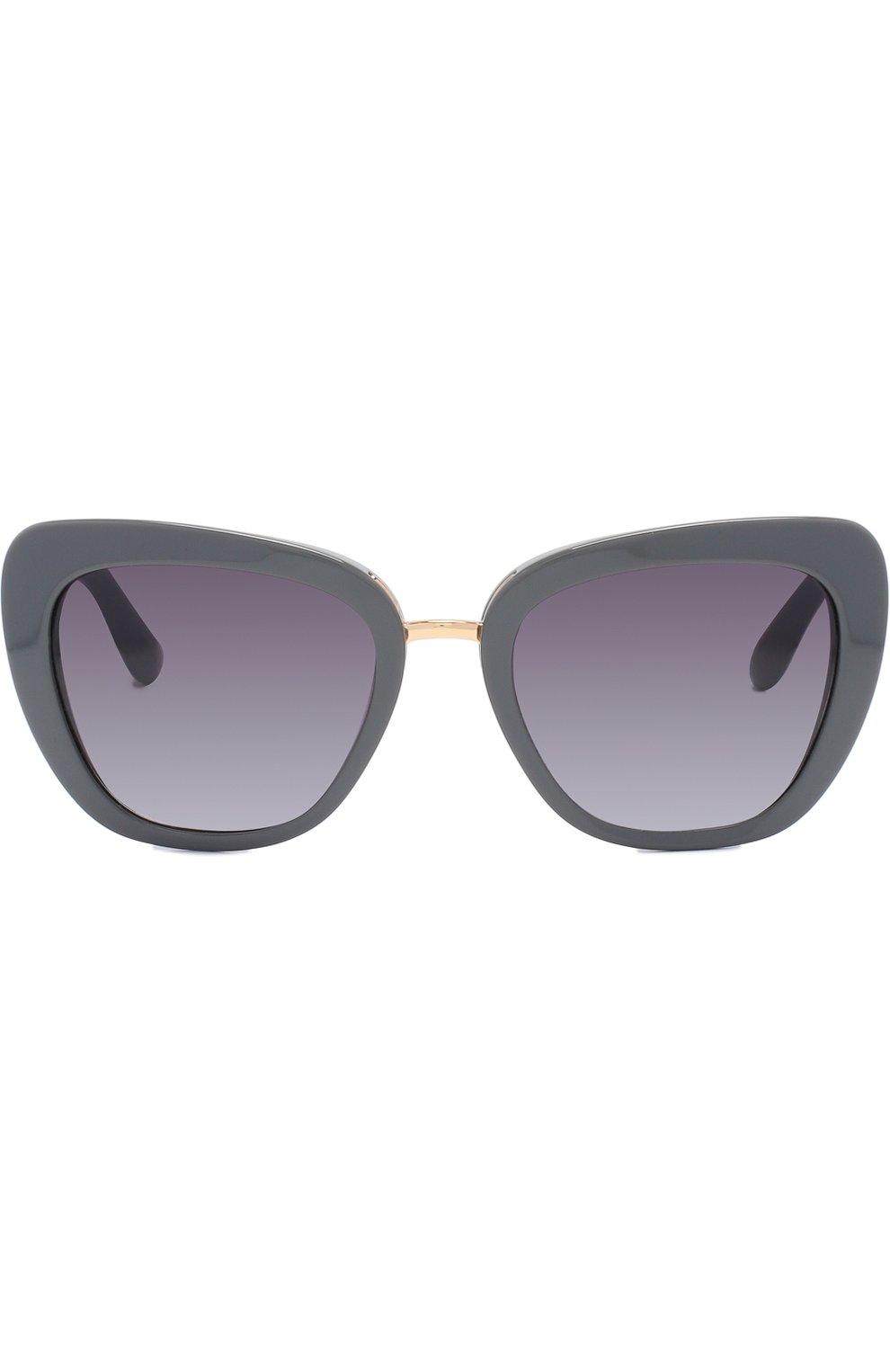 Солнцезащитные очки Dolce & Gabbana серые | Фото №3