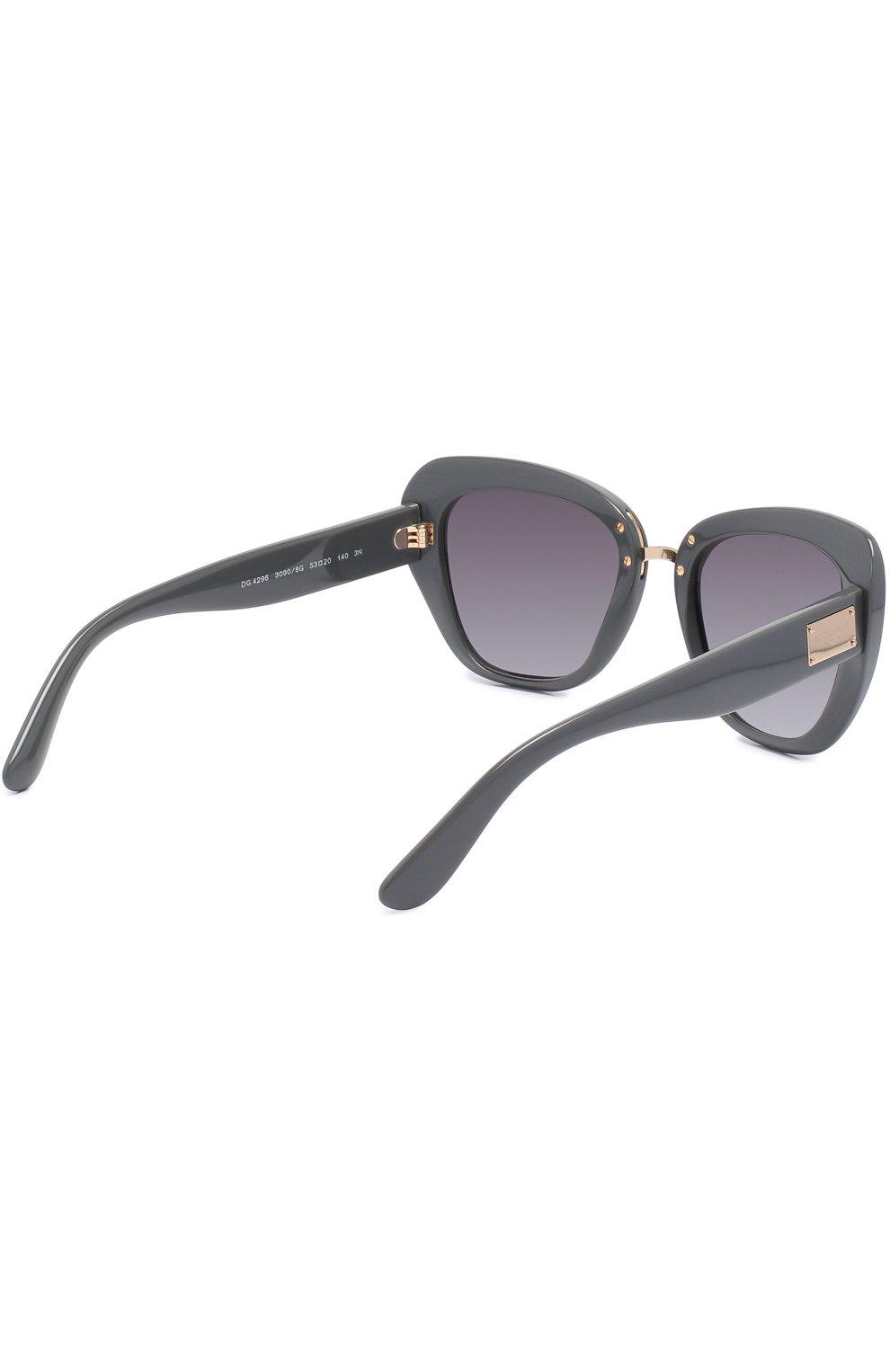 Солнцезащитные очки Dolce & Gabbana серые | Фото №4