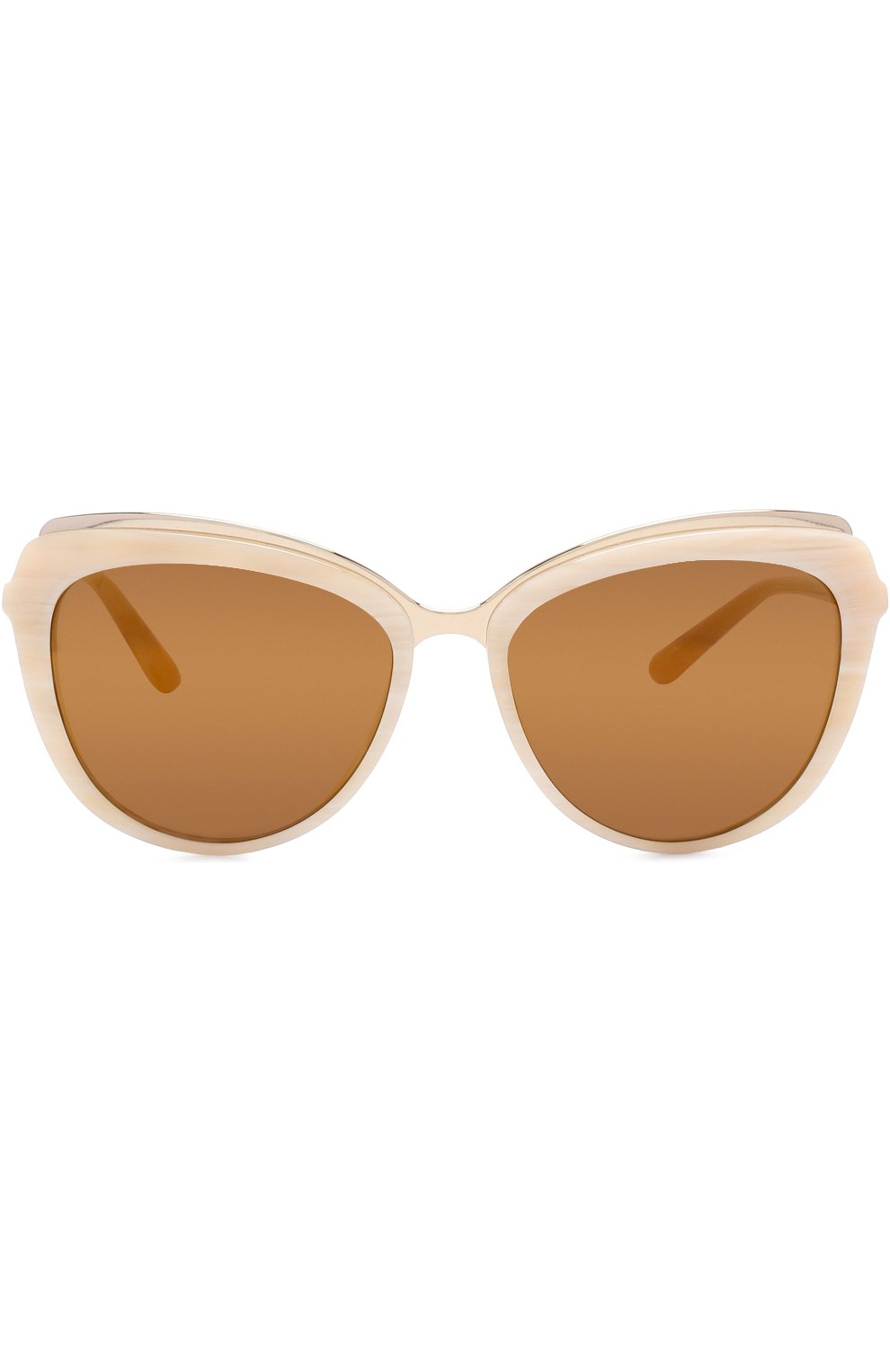 Солнцезащитные очки Dolce & Gabbana бежевые | Фото №3