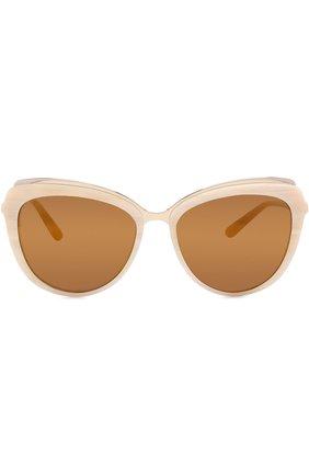 Женские солнцезащитные очки DOLCE & GABBANA бежевого цвета, арт. 4304-3084F9 | Фото 3