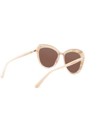 Женские солнцезащитные очки DOLCE & GABBANA бежевого цвета, арт. 4304-3084F9 | Фото 4