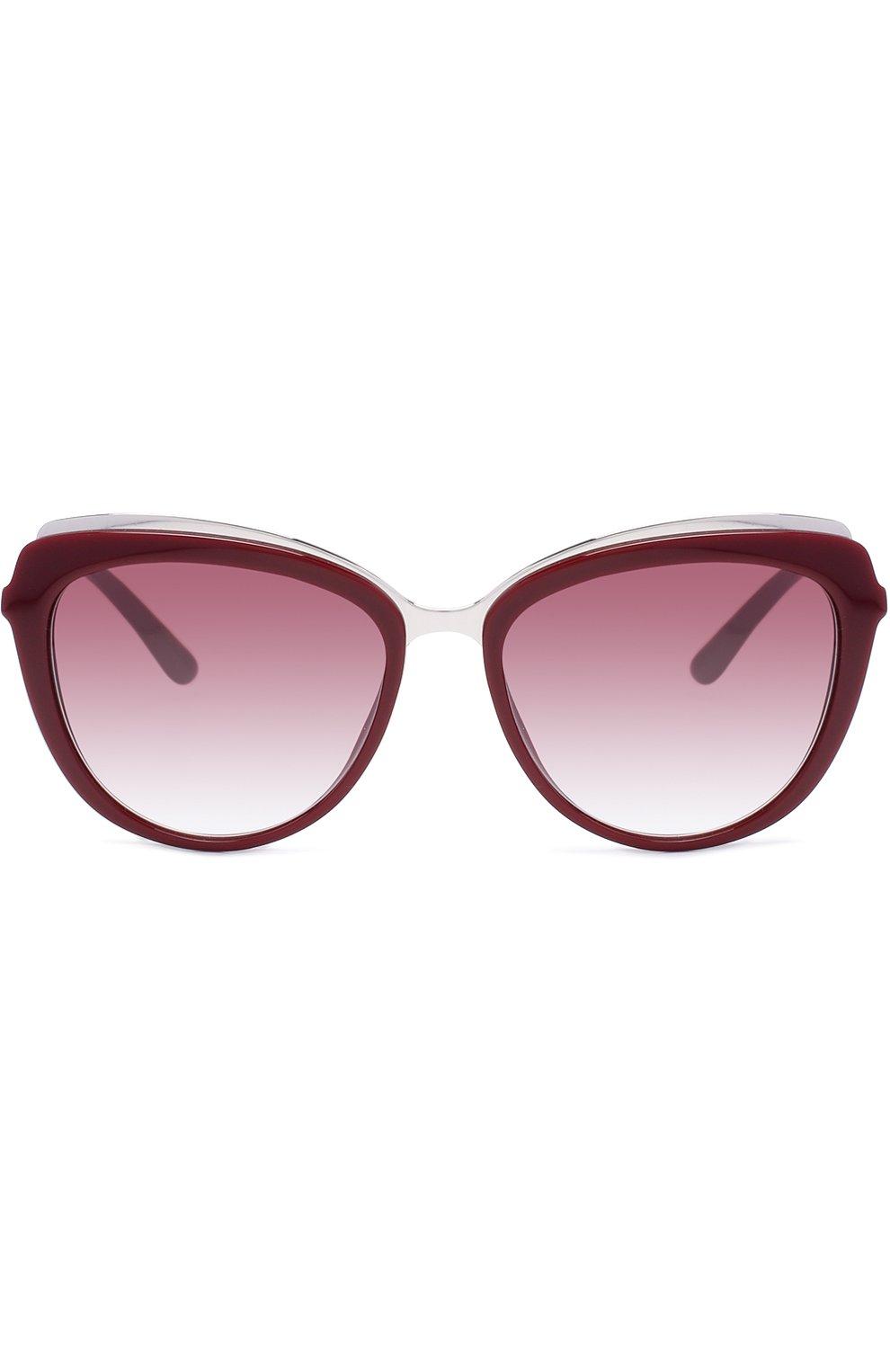 Солнцезащитные очки Dolce & Gabbana бордовые | Фото №3