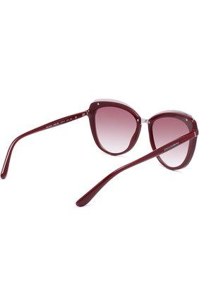 Солнцезащитные очки Dolce & Gabbana бордовые | Фото №4