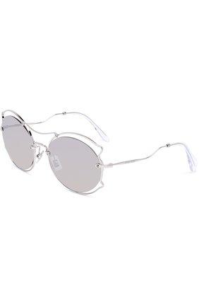Женские солнцезащитные очки MIU MIU серебряного цвета, арт. 50SS-1BC2B0 | Фото 1
