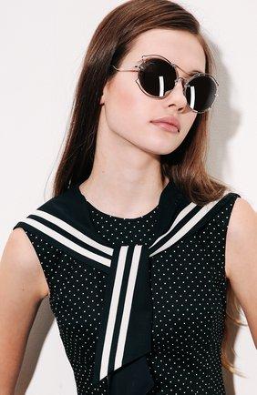 Женские солнцезащитные очки MIU MIU серебряного цвета, арт. 50SS-1BC2B0 | Фото 2