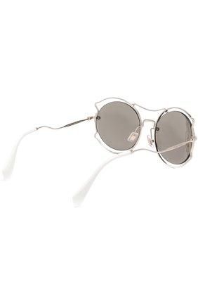 Женские солнцезащитные очки MIU MIU серебряного цвета, арт. 50SS-ZVN1C0 | Фото 4