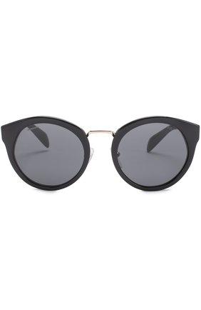 Женские солнцезащитные очки PRADA черного цвета, арт. 05TS-1AB1A1 | Фото 3