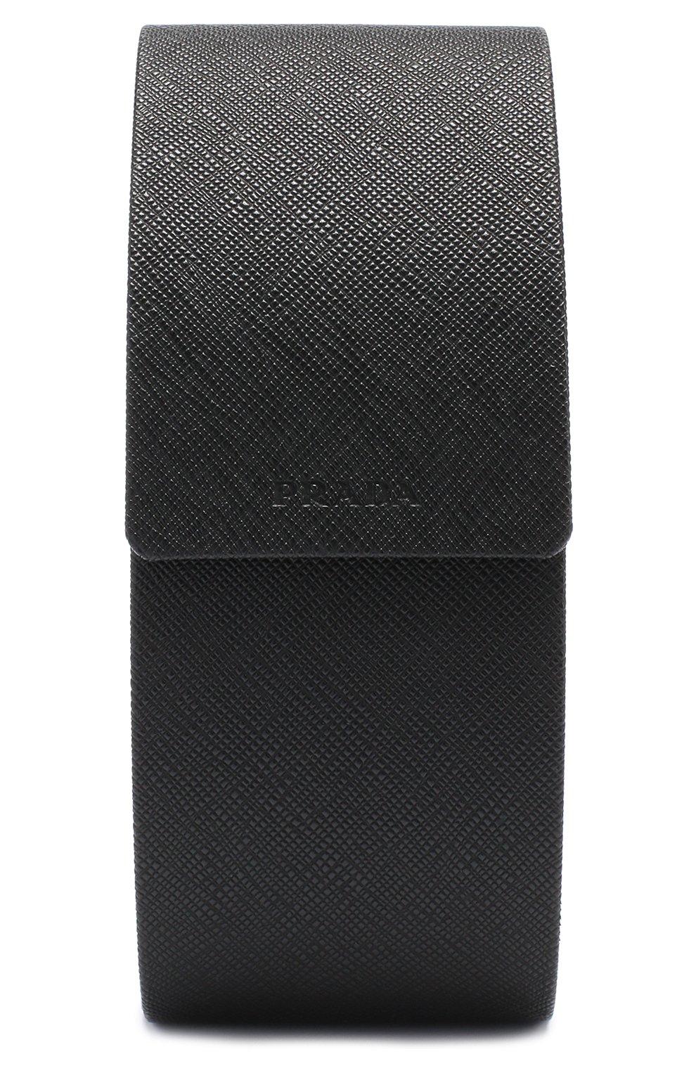 Женские солнцезащитные очки PRADA черного цвета, арт. 05TS-1AB1A1 | Фото 5