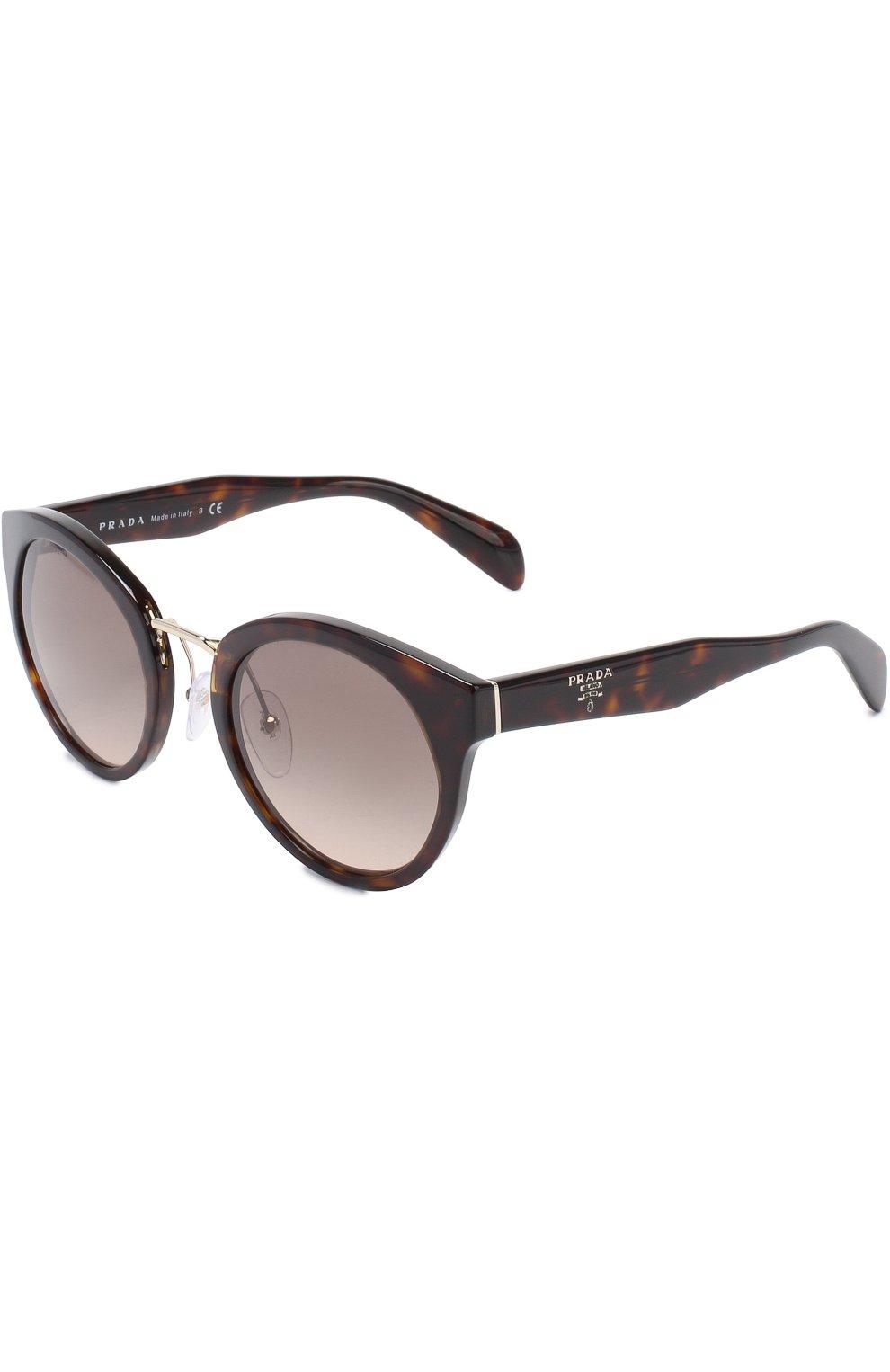 cd9ad1c379be Женские коричневые солнцезащитные очки PRADA — купить за 17900 руб ...
