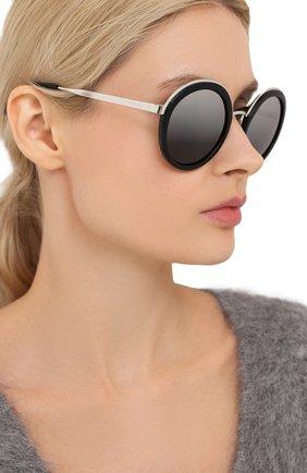 Женские солнцезащитные очки PRADA черного цвета, арт. 50TS-1AB6N2   Фото 2