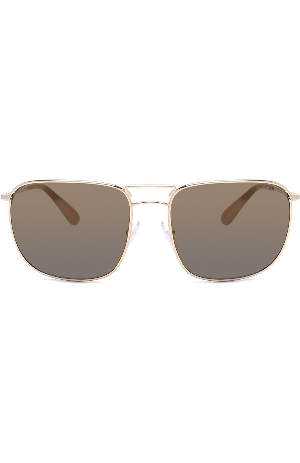 Женские солнцезащитные очки PRADA золотого цвета, арт. 52TS-5AK4L0 | Фото 2