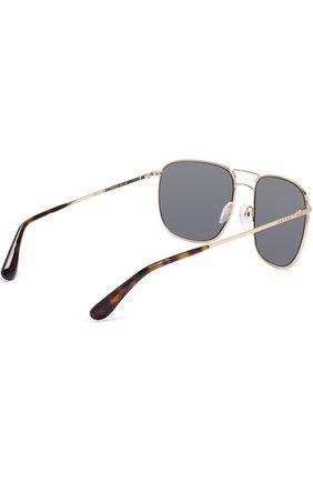 Женские солнцезащитные очки PRADA золотого цвета, арт. 52TS-5AK4L0 | Фото 3