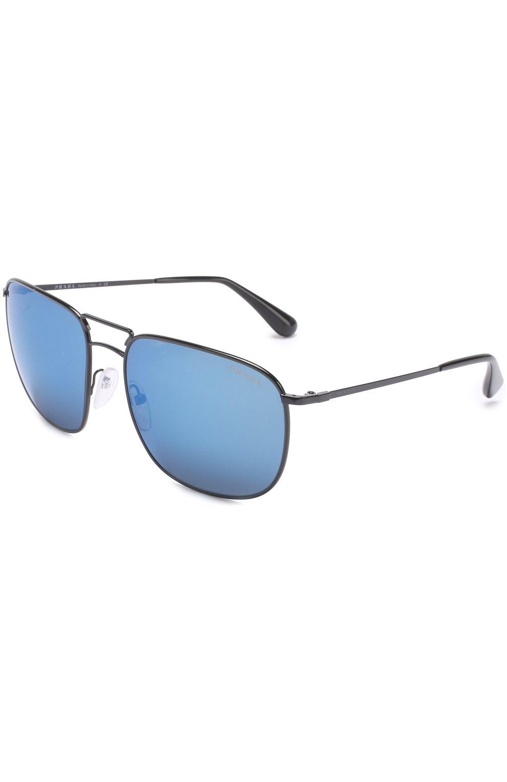 Женские солнцезащитные очки PRADA черного цвета, арт. 52TS-7AX9P1 | Фото 1