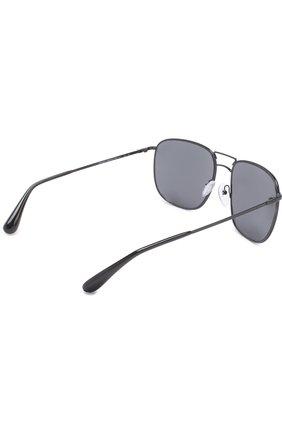 Женские солнцезащитные очки PRADA черного цвета, арт. 52TS-7AX9P1 | Фото 3