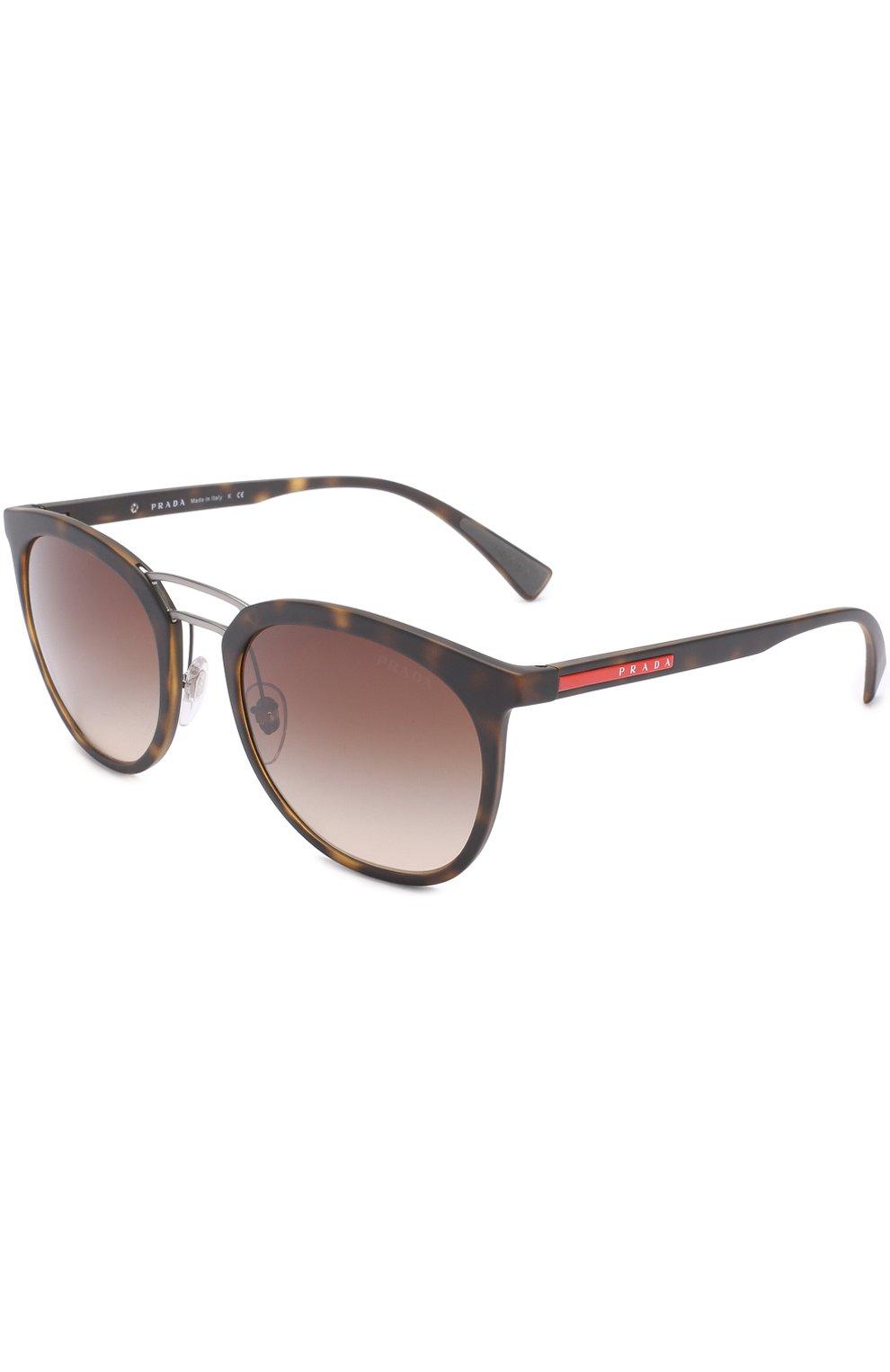 d77e52c9b706 Фото Мужские коричневые солнцезащитные очки prada linea rossa PRADA Италия  00013811 04SS-U616S1