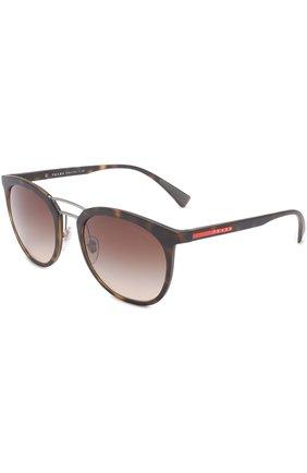 Женские солнцезащитные очки prada linea rossa PRADA коричневого цвета, арт. 04SS-U616S1 | Фото 1