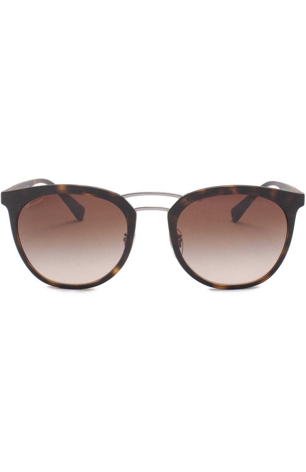 Женские солнцезащитные очки prada linea rossa PRADA коричневого цвета, арт. 04SS-U616S1 | Фото 2