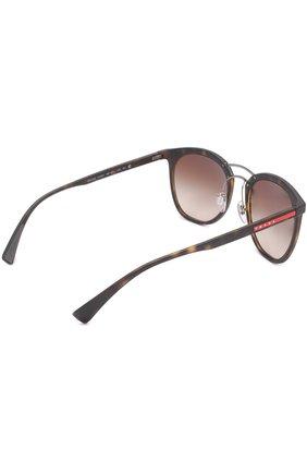 Женские солнцезащитные очки prada linea rossa PRADA коричневого цвета, арт. 04SS-U616S1 | Фото 3