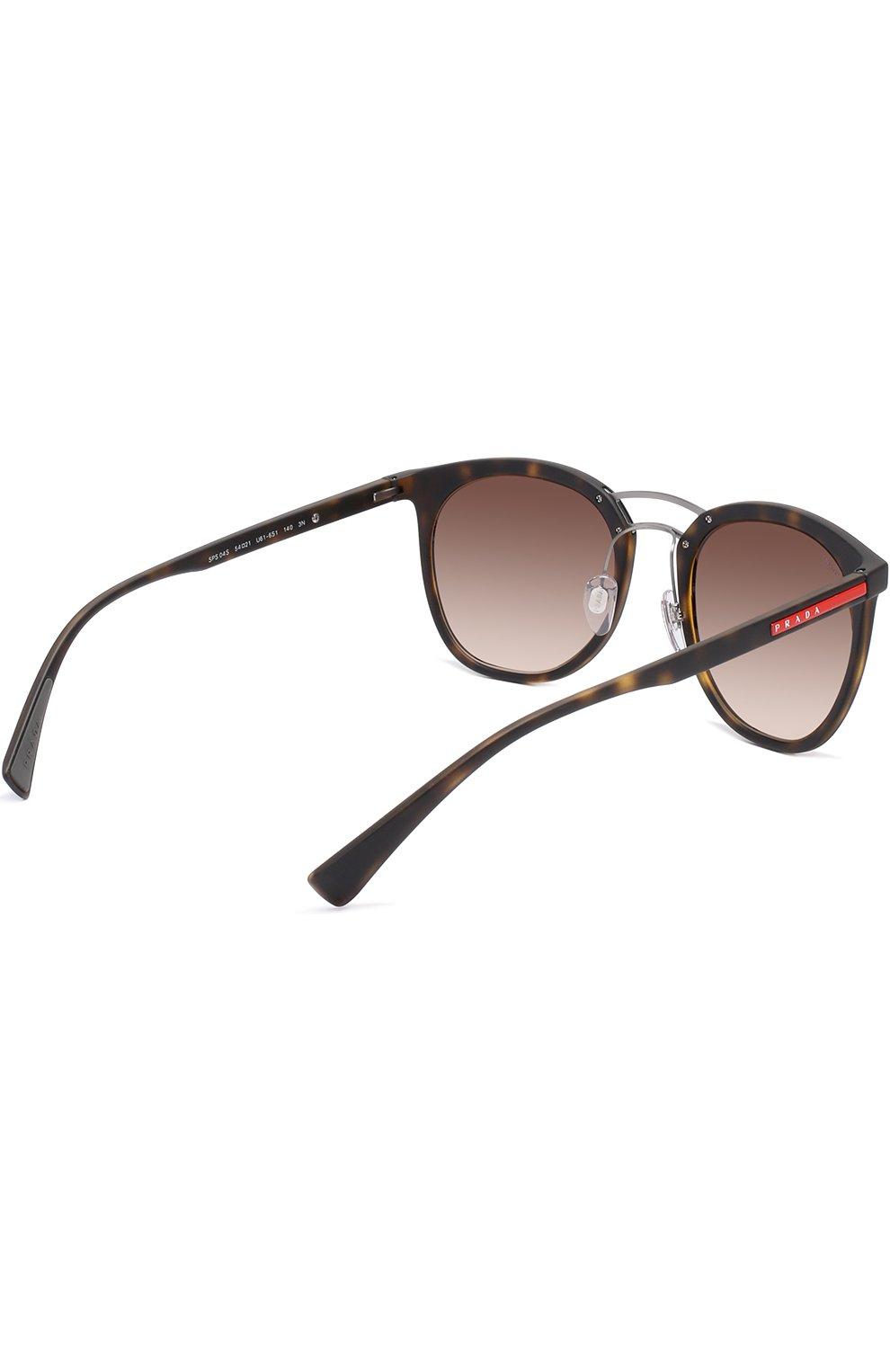 Женские солнцезащитные очки prada linea rossa PRADA коричневого цвета, арт. 04SS-U616S1 | Фото 4