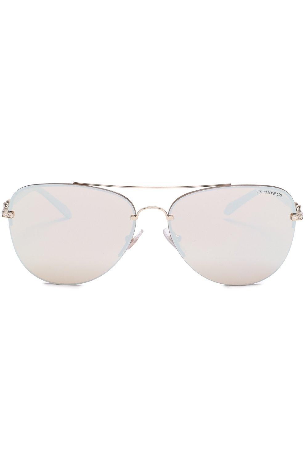 Солнцезащитные очки Tiffany & Co. серебряные | Фото №3