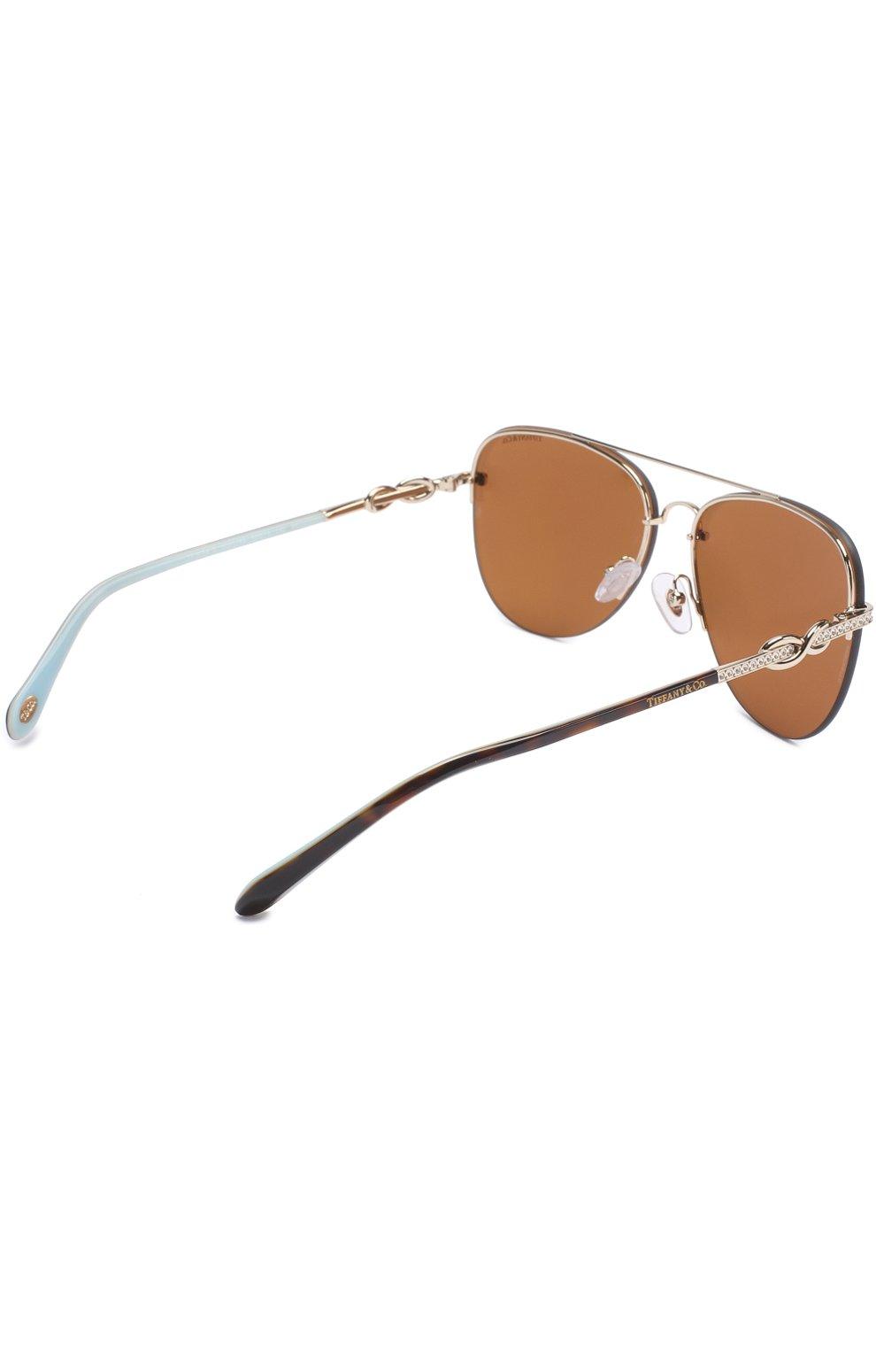 Солнцезащитные очки Tiffany & Co. серебряные | Фото №4
