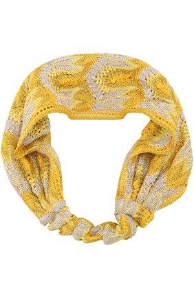 Вязаная повязка для волос   Фото №1