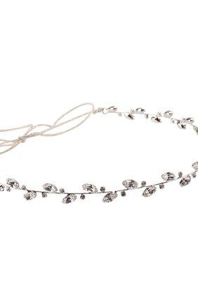 Повязка для волос с кристаллами Jennifer Behr серебряного цвета   Фото №1