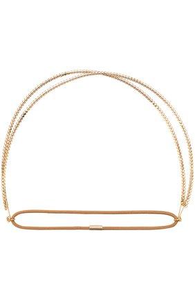 Повязка для волос со стразами Jennifer Behr серебряного цвета   Фото №1