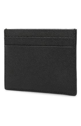 Мужской кожаный футляр для кредитных карт SAINT LAURENT черного цвета, арт. 375946/BTY0N | Фото 2