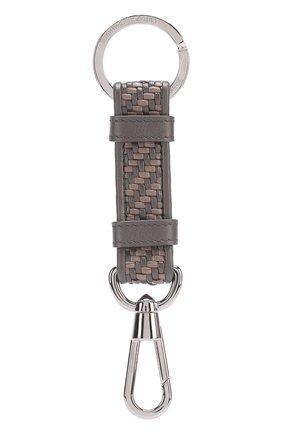 Мужской кожаный брелок для ключей ERMENEGILDO ZEGNA коричневого цвета, арт. E1171PPTE | Фото 1