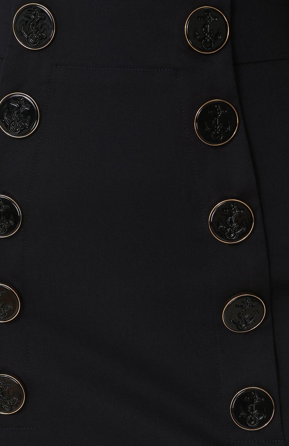 Юбка с завышенной талией и декорированными пуговицами   Фото №5