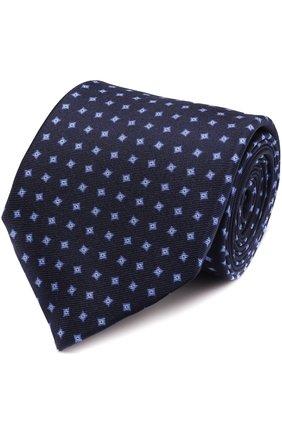 Шелковый галстук с узором   Фото №1