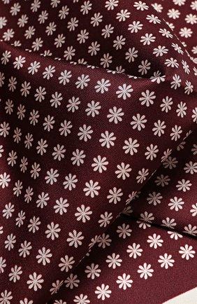 Мужской шелковый платок с узором ERMENEGILDO ZEGNA бордового цвета, арт. Z9I1939A | Фото 2