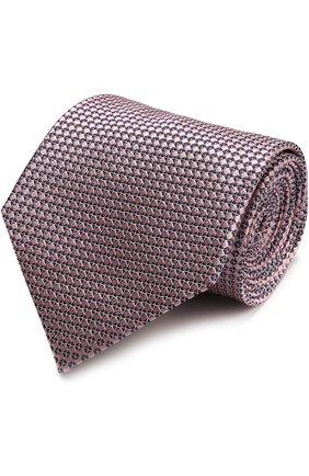 Мужской шелковый галстук с узором ERMENEGILDO ZEGNA розового цвета, арт. Z9D451XW   Фото 1