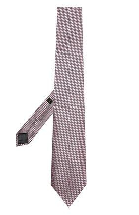 Мужской шелковый галстук с узором ERMENEGILDO ZEGNA розового цвета, арт. Z9D451XW   Фото 2
