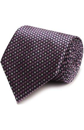 Мужской шелковый галстук с узором ERMENEGILDO ZEGNA розового цвета, арт. Z9D821XW   Фото 1