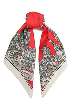 Женский шелковый платок red square RADICAL CHIC красного цвета, арт. 16001.21.01   Фото 1