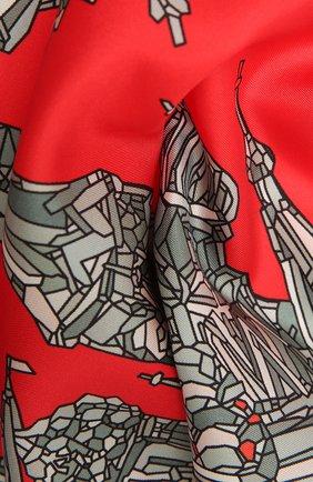 Женский шелковый платок red square RADICAL CHIC красного цвета, арт. 16001.21.01   Фото 2