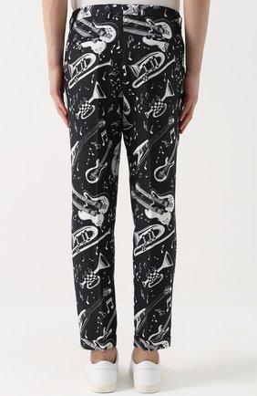 Льняные брюки с принтом | Фото №4
