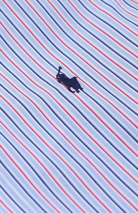 Детская хлопковая рубашка в контрастную полоску и логотипом бренда POLO RALPH LAUREN разноцветного цвета, арт. B04/XZ76Z/XY76Z | Фото 2 (Материал внешний: Хлопок; Рукава: Длинные; Стили: Классический)