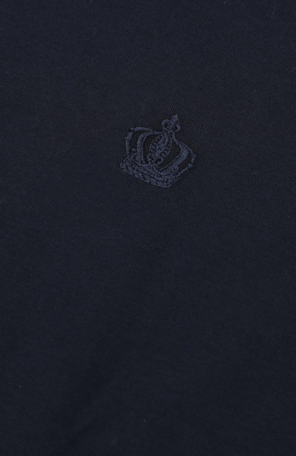 Детская футболка джерси с вышивкой Dolce & Gabbana синего цвета | Фото №2