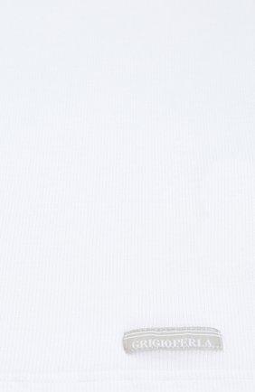 Детская майка с круглым вырезом LA PERLA белого цвета, арт. 54366/8A-14A | Фото 2