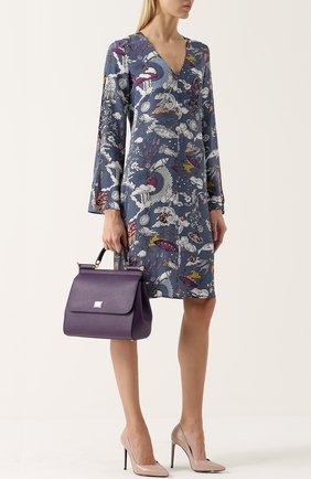 Сумка Sicily medium new Dolce & Gabbana сиреневая цвета   Фото №2