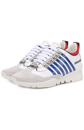 Комбинированные кроссовки с логотипом бренда | Фото №1
