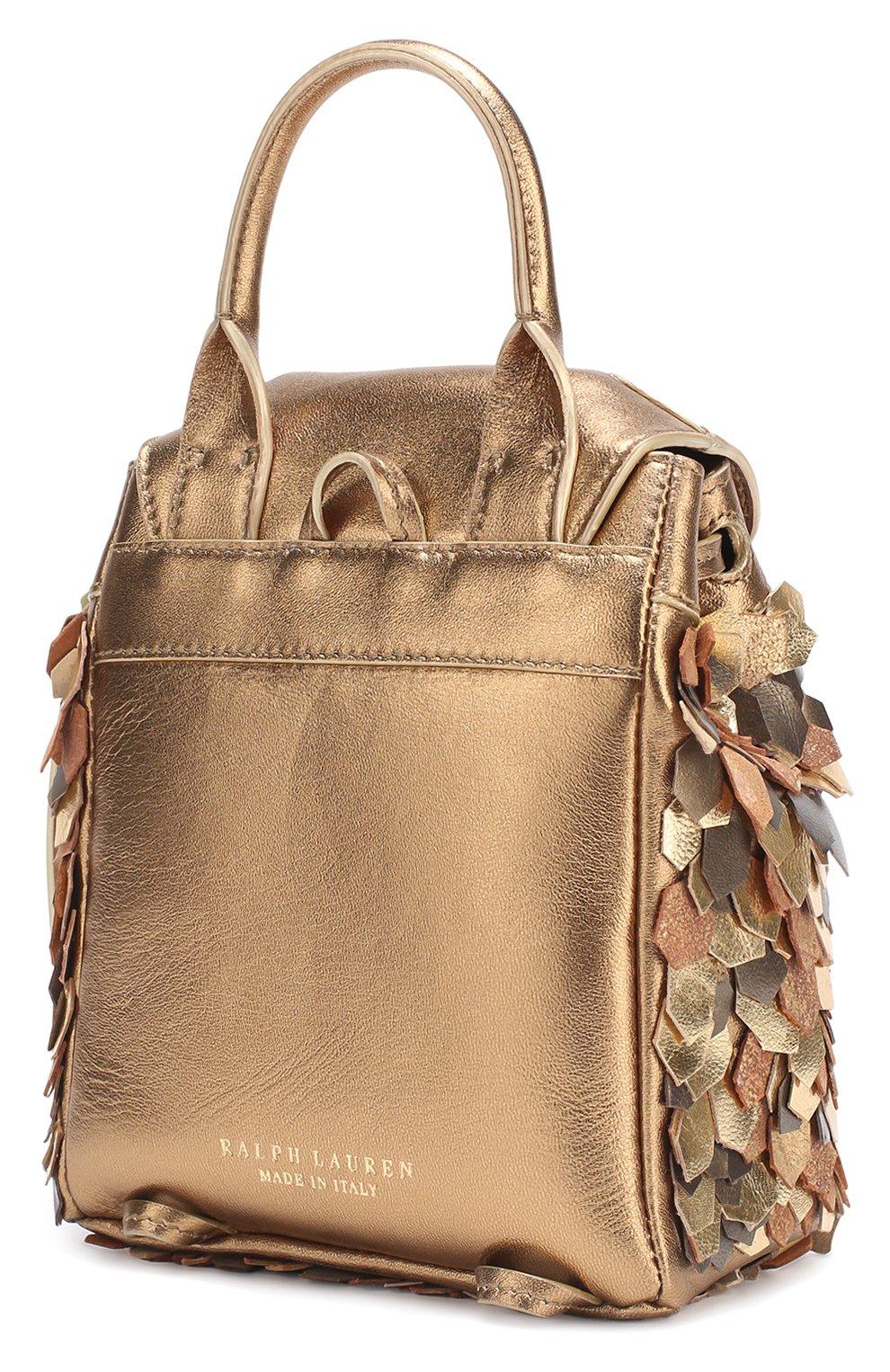 Рюкзак из металлизированной кожи | Фото №2