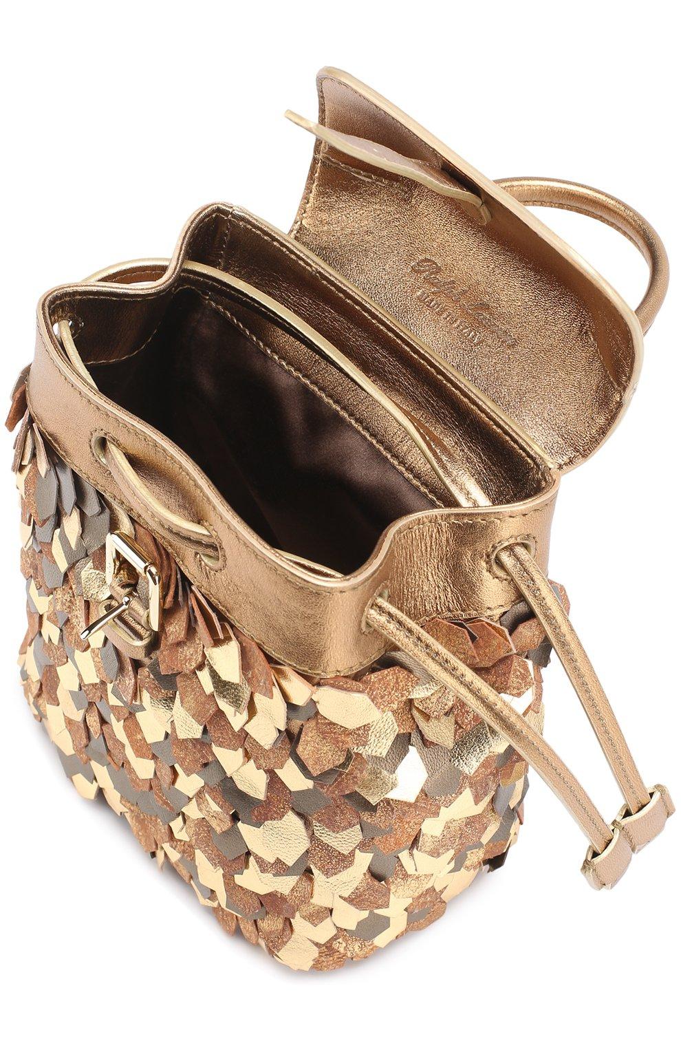 Рюкзак из металлизированной кожи | Фото №3
